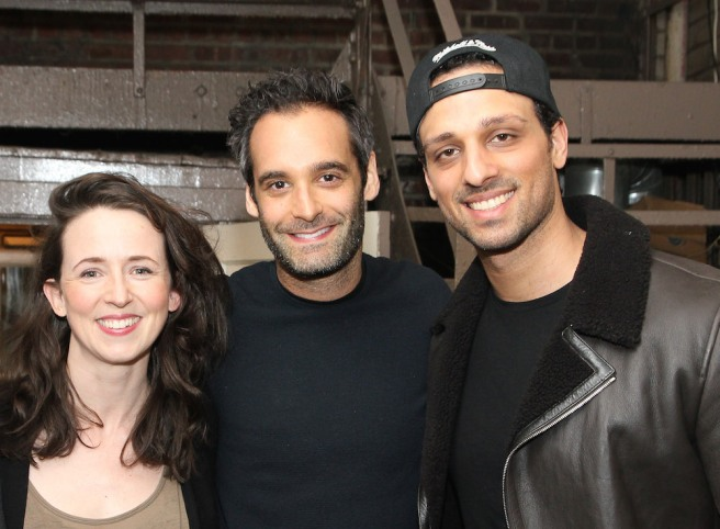 Kristen Sieh, Jonathan Raviv, Ari'el Stachel at THE BAND'S VISIT at The Barrymore in New York. Photo by Lia Chang
