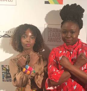 MaameYaa Boafo and Jocelyn Bioh at the 84th Annual Drama League Awards held at the Marriott Marquis Times Square in New York on May 18, 2018. Photo: Facebook