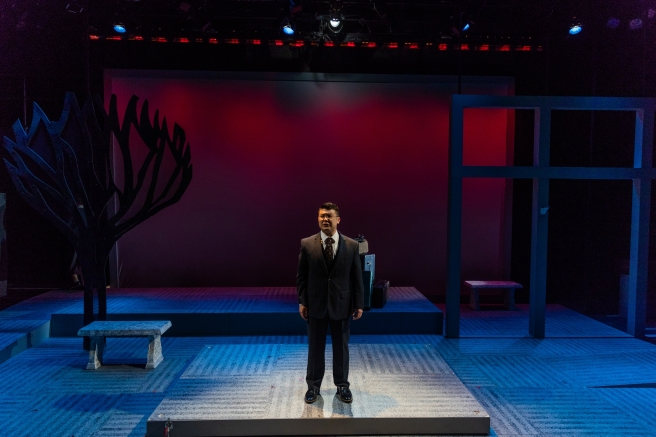 Michael Hisamoto in SpeakEasy Stage's production of ALLEGIANCE. Photo by Nile Scott Studios