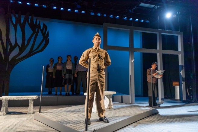Sam Tanabe and Company in SpeakEasy Stage's production of ALLEGIANCE. Photo by Nile Scott Studios