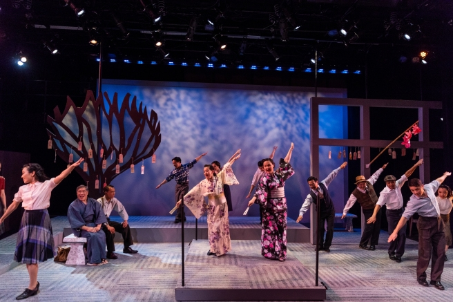 The cast of SpeakEasy Stage's production of ALLEGIANCE. Photo by Nile Scott Studios
