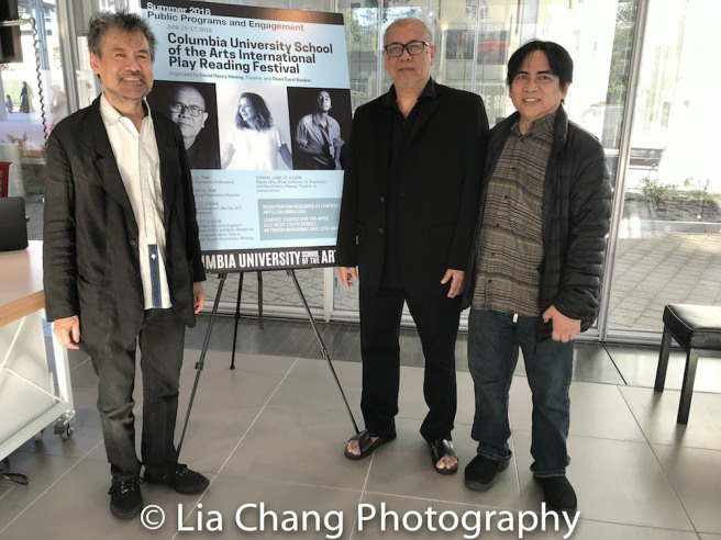 David Henry Hwang, N. Riantiarno and Corin Asmara. Photo by Lia Chang