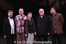 David Henry Hwang, Ed Sylvanus Iskandar, Cobina Gillitt, Tangga Bhuana, N. Riantiarno. Photo by Lia Chang