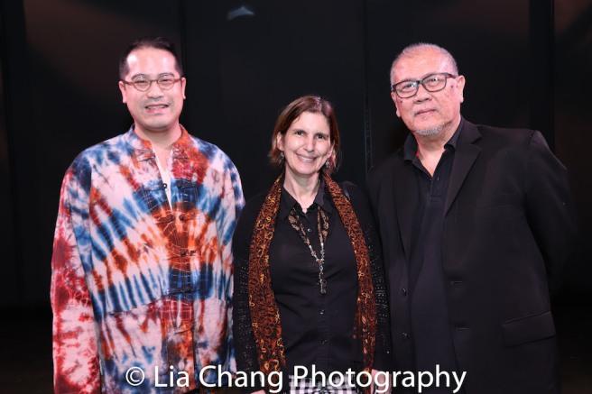 Ed Sylvanus Iskandar, Cobina Gillitt, N. Riantiarno. Photo by Lia Chang