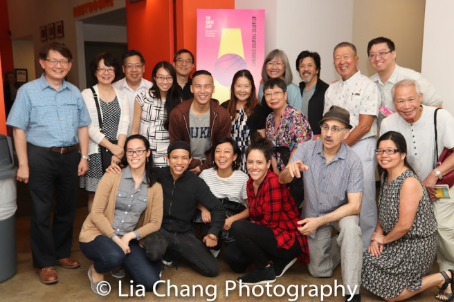 Lauren Yee, BD Wong, Ali Ahn, Tony Aidan Vo, Taibi Magar and members of the Yee Association. Photo by Lia Chang