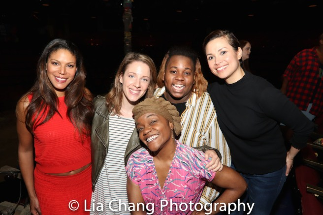 Merle Dandridge, Jessie Mueller, Kenita R. MIller, Alex Newell and Lea Salonga. Photo by Lia Chang