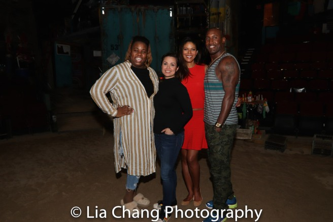 Alex Newell, Lea Salonga, Merle Dandridge and Quentin Earl Darrington. Photo by Lia Chang