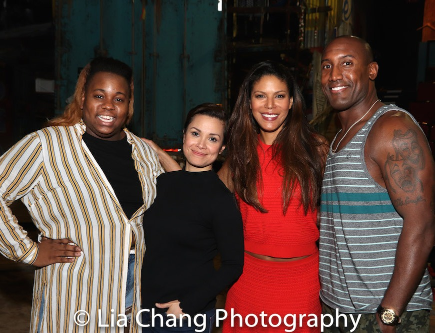 Alex Newell, Lea Salonga, Merle Dandridge and Quentin Earl Darrington. Photo by Lia Chang