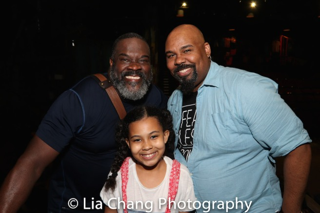 Phillip Boykin, Emerson Davis, James M. Iglehart. Photo by Lia Chang