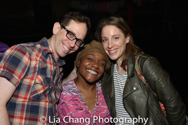 Garth Kravits, Kenita R. Miller and Jessie Mueller. Photo by Lia Chang