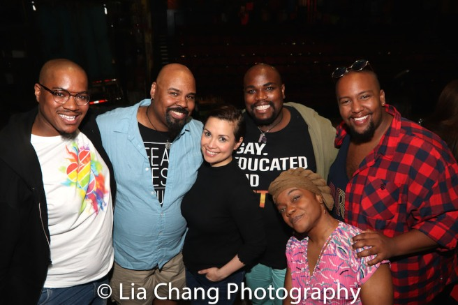 Deonté Lamont, James Monroe Iglehart, Lea Salonga, Juwan Alan Crawley and Anthony Murphy. Photo by Lia Chang