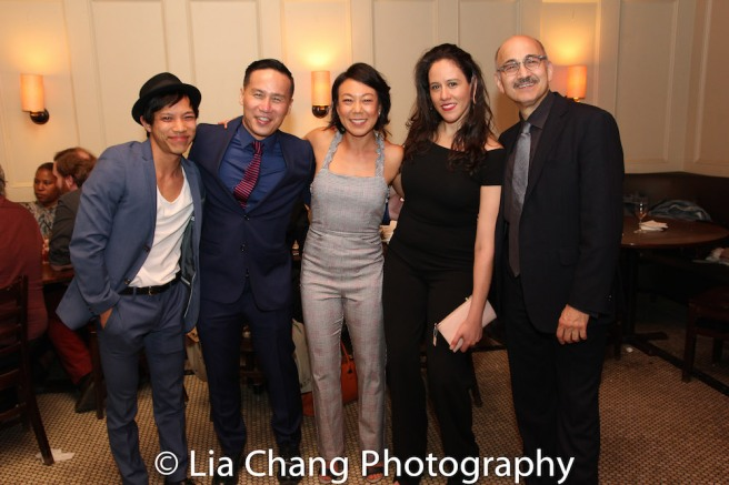 Tony Aidan Vo, BD Wong, Ali Ahn, Director Taibi Magar and Ned Eisenberg. Photo by Lia Chang