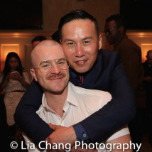 Richert Schnorr and BD Wong. Photo by Lia Chang