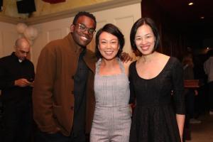 William Jackson Harper, Ali Ahn and Lia Chang. Photo by Tony Aidan Vo