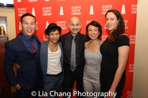 BD Wong, Tony Aidan Vo, Ned Eisenberg, Ali Ahn and Taibi Magar. Photo by Lia Chang