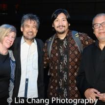 Rachel Cooper, David Henry Hwang, Rangga Bhuana, N. Riantiarno. Photo by Lia Chang