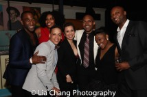 Anthony Wayne, Aurelia Williams, Tyler Hardwick, Lea Salonga, Alvin Hough Jr., Kenita Miller, Justin HIcks. Photo by Lia Chang