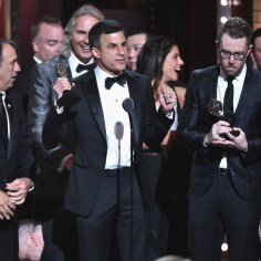 NEW YORK, NY - JUNE 10: Ken Davenport and the cast and crew of Once on This Island accept the award for Best Revival of a Musical onstage during the 72nd Annual Tony Awards at Radio City Music Hall on June 10, 2018 in New York City. (Photo by Theo Wargo/Getty Images for Tony Awards Productions)