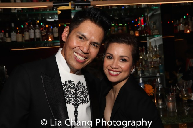 Clint Ramos and Lea Salonga. Photo by Lia Chang
