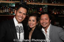 Clint Ramos, Lea Salonga and Victor Lirio. Photo by Lia Chang