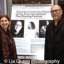 Dramaturg Cobino Gillitt and Playwright N. Riantiarno. Photo by Lia Chang