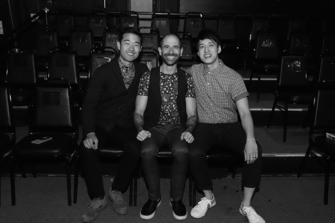 Daniel K. Isaac, Carlos Armesto, Julian Leong. Photo by Lia Chang