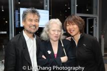 David Henry Hwang, Morgan Jeness and a guest. Photo by Lia Chang-97