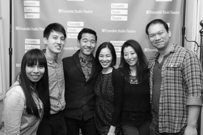 Esther Chen, Julian Leong, Daniel K. Isaac, Lia Chang, Deborah S. Craig. Photo by Tom Marks