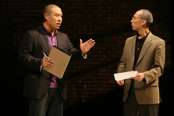 Hoon Lee and Francis Jue in Yellow Face at the Public Theatre. Photo by Michal Daniel