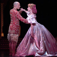 Francis Jue as The King of Siam and Debby Boone as Anna in AMTSJ's THE KING AND I, 2006. (Photo by David M. Allen)