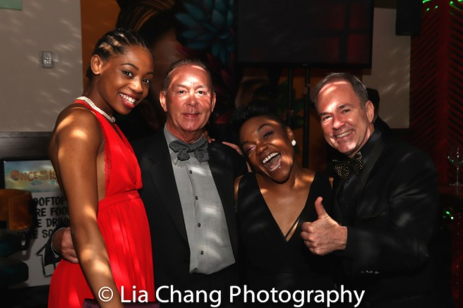 Hailey Kilgore, Trevor Hardwick, Kenita R. Miller and Stephen Flaherty. Photo by Lia Chang