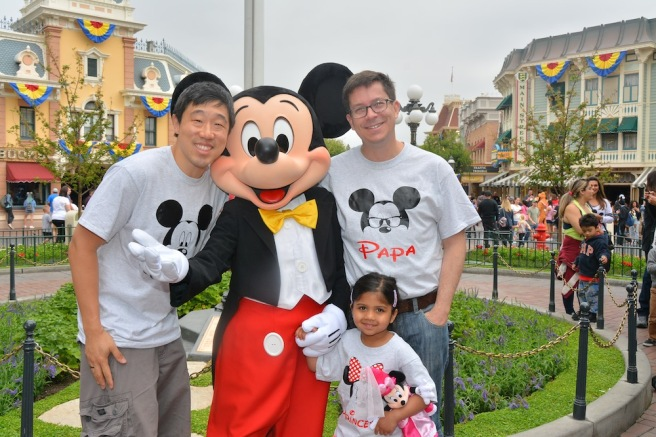 Raymond J. Lee, Mickey Mouse, Ella Jean and Robbie Kearns.