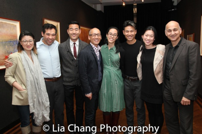Jennifer Lim, Joe Ngo, Daniel K. Isaac, Francis Jue, Lauren Yee, Tobias C. Wong, Jeena Yi and Ned Eisenberg. Photo by Lia Chang