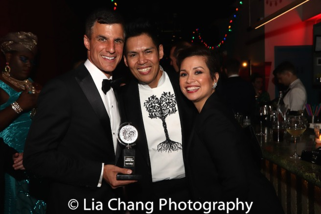 Ken Davenport, Clint Ramos and Lea Salonga. Photo by Lia Chang