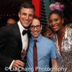 Producer Ken Davenport with cast members from his new show, GETTIN' THE BAND BACK TOGETHER, Garth Kravits and Jasmin Richardson. Photo by Lia Chang