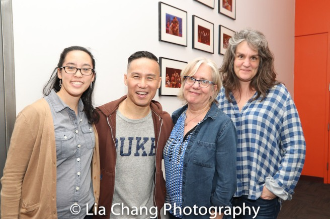 Lauren Yee, BD Wong, Lisa Peterson, Pam MacKinnon. Photo by Lia Chang