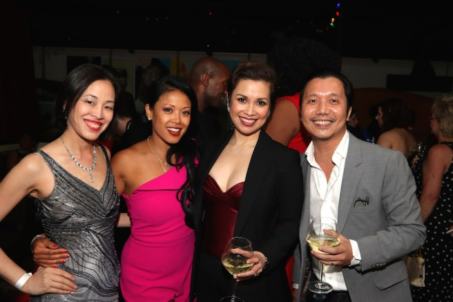 Lia Chang, J. Elaine Marcos, Lea Salonga, Victor Lirio at the ONCE ON THIS ISLAND Tony Party at Vida Verde in New York on June 10, 2018. Photo by Garth Kravits