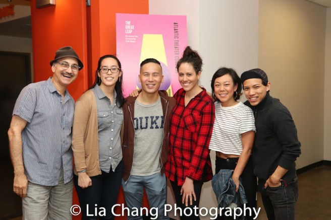 Ned Eisenberg, Playwright Lauren Yee, BD Wong Director Taibi Magar, Ali Ahn, Tony Adian Vo. Photo by Lia Chang