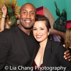 Quentin Earl Darrington and Lea Salonga. Photo by Lia Chang