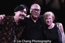 Rangga Bhuana, N. Riantiarno, Rachel Cooper. Photo by Lia Chang