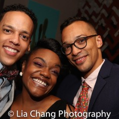 Tyler Hardwick, Kenita R. Miller and a guest. Photo by Lia Chang