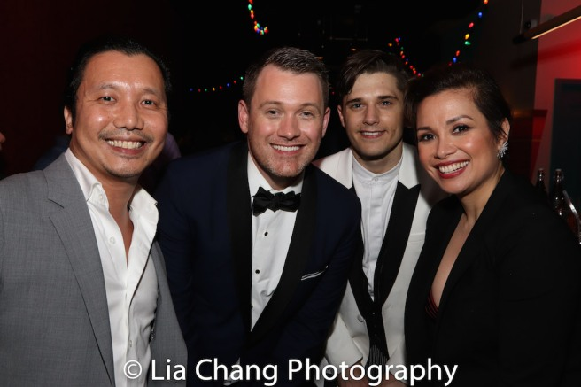 Victor Lirio, Director Michael Arden, Andy Mientus and Lea Salonga. Photo by Lia Chang