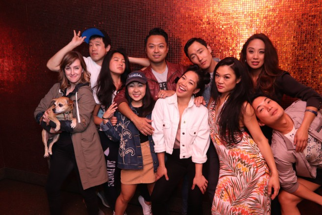 Kara Guy, Raymond J. Lee, Emily Stillings, Kendyl Ito, Billy Bustamante, Geena Quinto, Daniel May, Kristen Faith Oei, Jaygee Macapugay and Austin Ku. Photo by Lia Chang