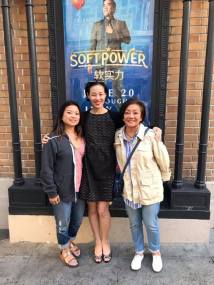 Leah Baptista, Lia Chang and Pauline Chang