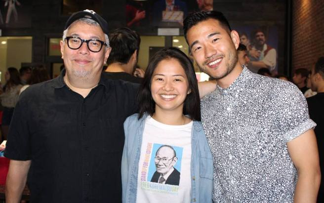 Director Ralph B. Peña, Shannon Tyo and Daniel K. Isaac. Photo courtesy of Facebook/Barrington Stage Company