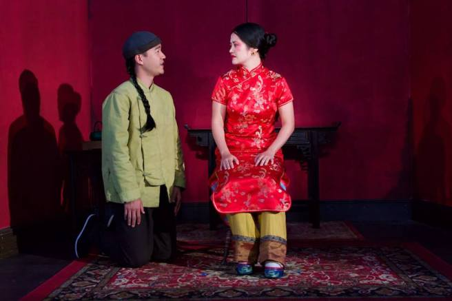 Daniel K. Isaac and Shannon Tyo in THE CHINESE LADY. Photo by Eloy Garcia.