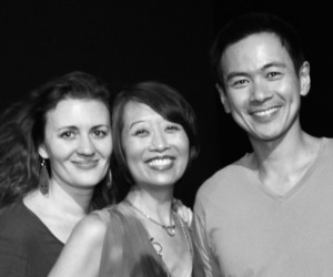 Lisa Rothe, Jeanne Sakata and Joel de la Fuente. Photo by Lia Chang