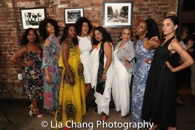 Michelle Wilson, Nedra McClyde, Joniece Abbott-Pratt, Lileana Blain-Cruz, Lynda Gravatt, Marie Thomas, Harriett D. Foy and Juliana Canfield. Photo by Lia Chang