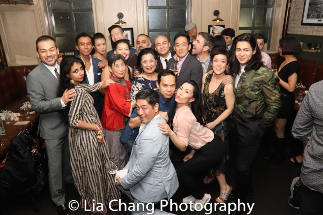 The cast includes David Shih, Mahira Kakkar, Ron Domingo, Kim Wong, Wai Ching Ho, Sophia Skiles, James Seol, Rajesh Bose, Mia Katigbak, Jon Norman Schneider, Associate Producer Peter Kim, Vanessa Kai, David Huynh, Paul Junh, John D. Haggerty, Anna Ishida, Michelangelo Hyeon. Photo by Lia Chang
