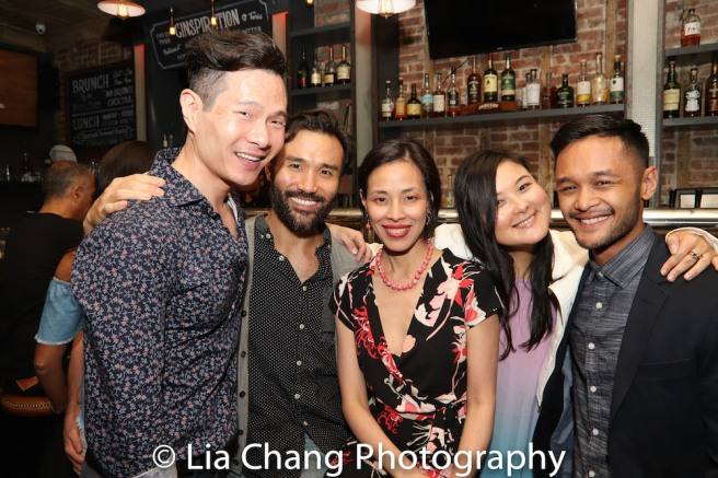 James Seol, Marc de la Cruz, Lia Chang, Olivia Oguma and Daniel Velasco. Photo by Lia Chang